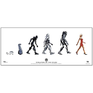 Battlestar Galactica Poster Evolution of the Cylon 74 x 31 cm