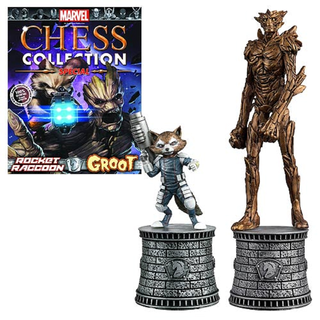 Guardians of the Galaxy Rocket und Groot Figuren und Collection Magazin