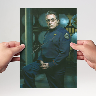 Edward James Olmos 3 - Battle Star Galactica - Originalautogramm mit Echtheitszertifikat