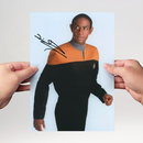 Tim Russ 2 - Star Trek Voyager Tuvok - Originalautogramm...