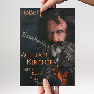 William Kircher 1 - Hobbit Bifur - Originalautogramm mit Echtheitszertifikat
