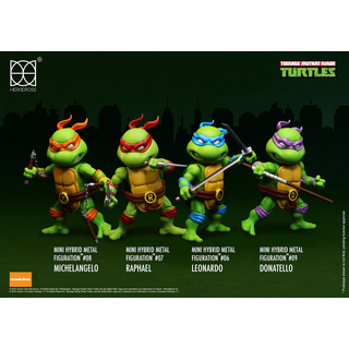 Teenage Mutant Ninja Turtles Mini Hybrid Metal Actionfiguren 4-er Pack