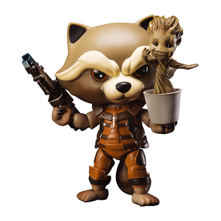 Rocket Raccoon mit Dancing Groot aus Guardians of the Galaxy10 cm Actionfigur Egg Attack