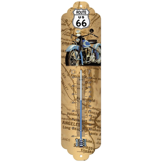 Nostalgic Art Thermometer Route 66 Map