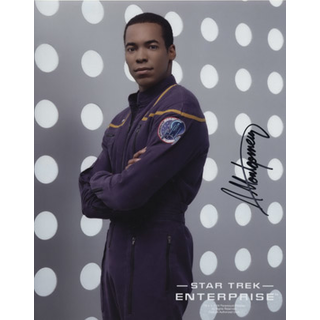 Anthony Montgomery 2 - Star Trek Enterprise Ensign Travis Mayweather - Originalautogramm mit Echtheitszertifikat