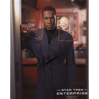 Anthony Montgomery 3 - Star Trek Enterprise Ensign Travis Mayweather - Originalautogramm mit Echtheitszertifikat